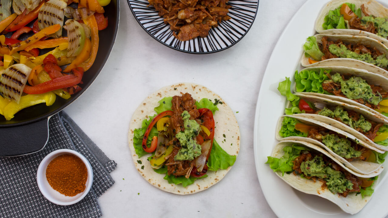 Recept på Spicy Jackfruit Fajitas
