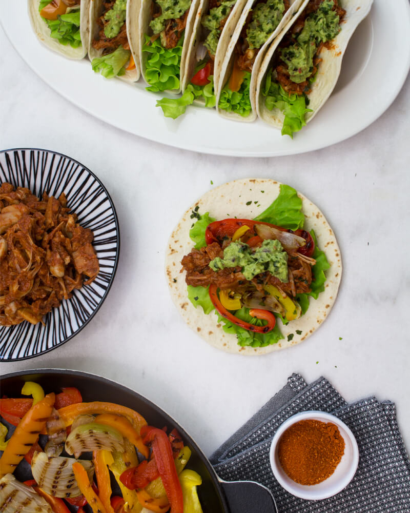 Recept på Spicy Jackfruit Fajitas från Green Warrior