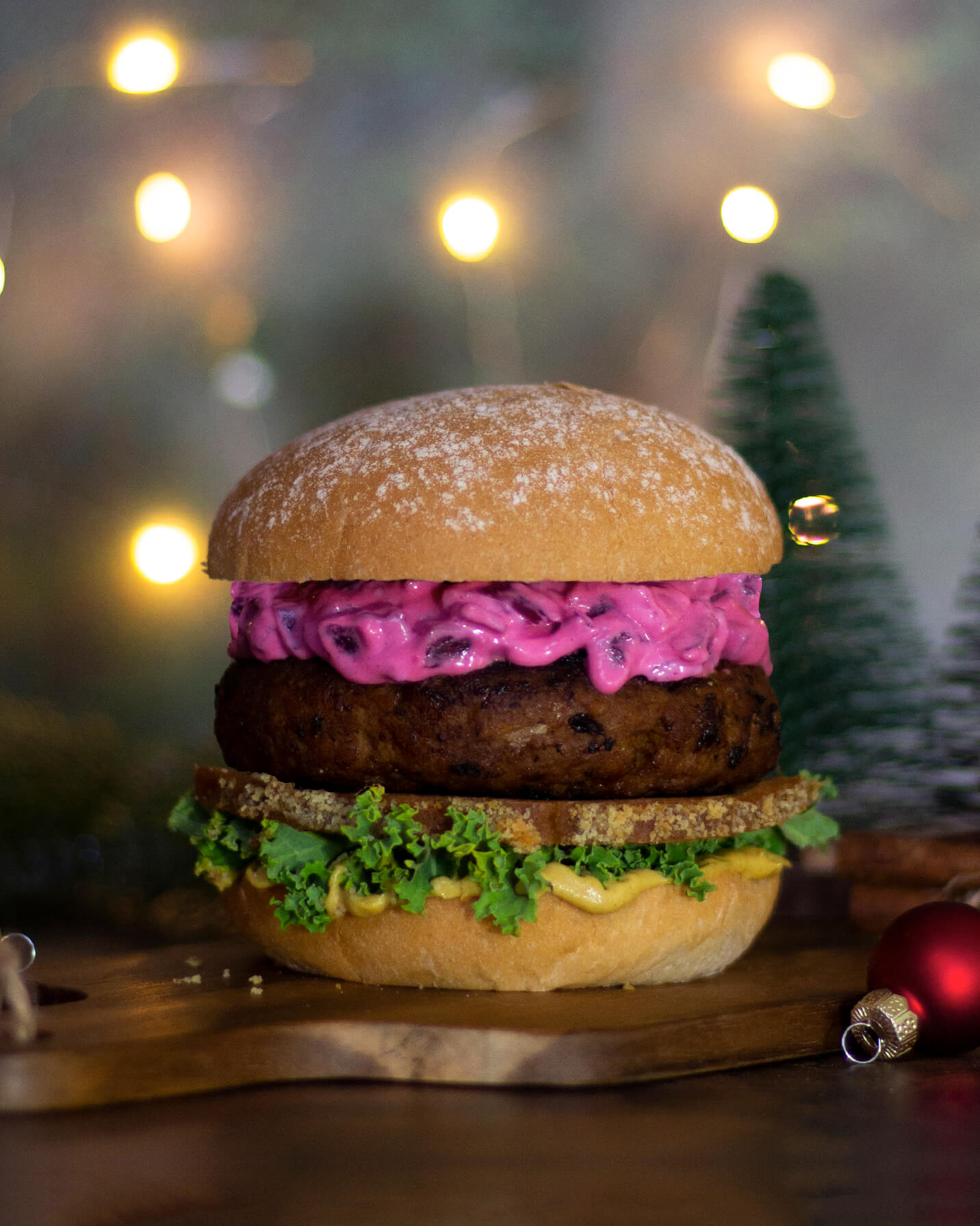 Recept på Green Warrior's Christmas Burger från Green Warrior