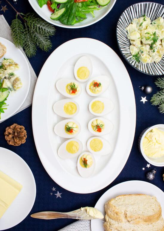 Veganska ägghalvor