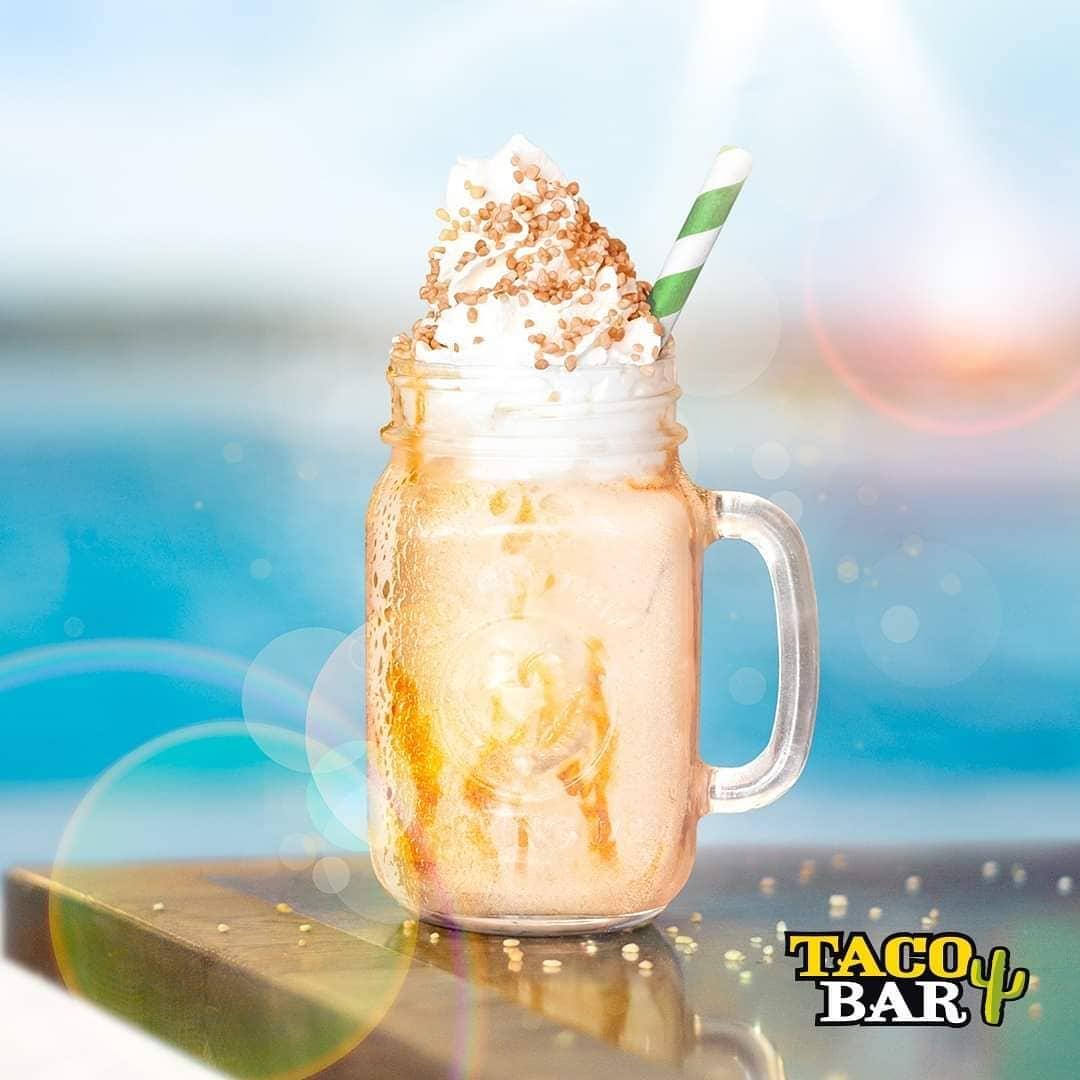Vegansk milkshake från Taco Bar Salty Caramel Shake