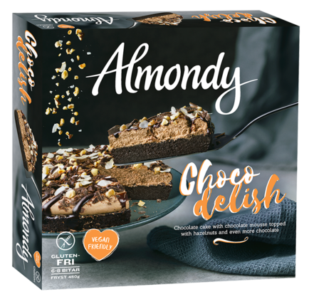 Almondy vegansk tårta glutenfri