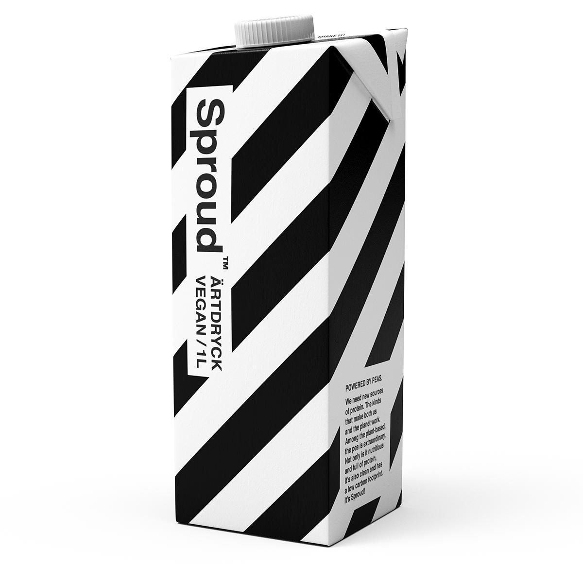 Växtbaserad mjölk gjord på ärtor