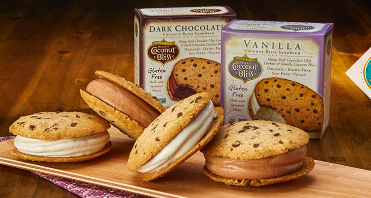 Coconut Bliss veganska ice cream sandwiches