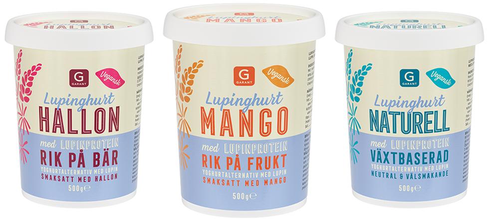 Garant lupinyoghurt, vegansk yoghurt