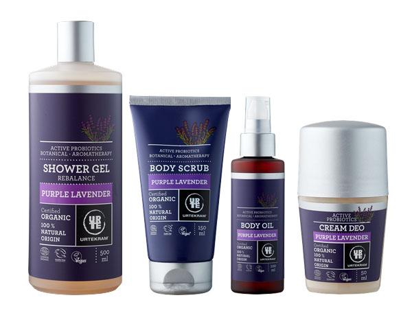 Nya produkter från Urtekram i serien Pure Lavender